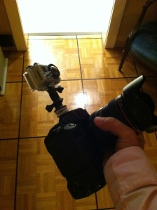 GoPro and DLSR
